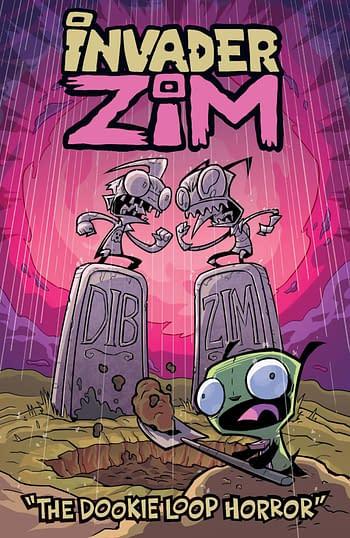 Cover image for INVADER ZIM DOOKIE LOOP HORROR ONESHOT CVR A ALEXOVICH