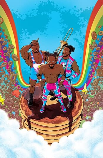 WWE's New Day Morphin to Power Rangers Ahead of Boom Comic
