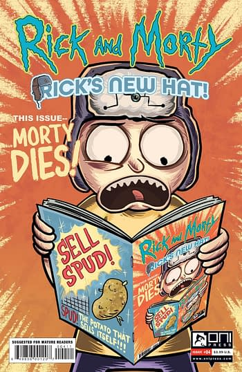 Cover image for RICK AND MORTY RICKS NEW HAT #4 CVR A STRESING