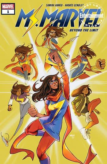 YA Novelist Samira Ahmed and AndrésGenolet Ms Marvel #1 in September