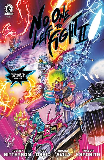 No One Let to Fight II #1 Cover A by Fico Ossio, coming from Dark Horse in October