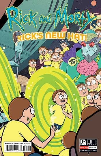 Cover image for RICK AND MORTY RICKS NEW HAT #5 CVR B STERN