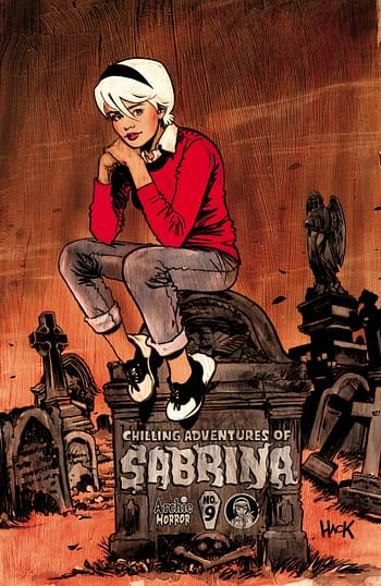 Cover to The Chilling Adventures of Sabrina #9 from Archie Comics