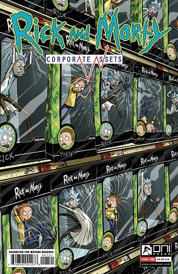 Cover image for RICK AND MORTY CORPORATE ASSESTS #1 CVR B LEE