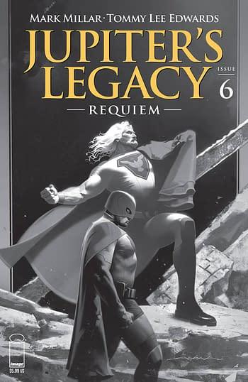 Cover image for JUPITERS LEGACY REQUIEM #6 (OF 12) CVR C DEKAL B&W (MR)