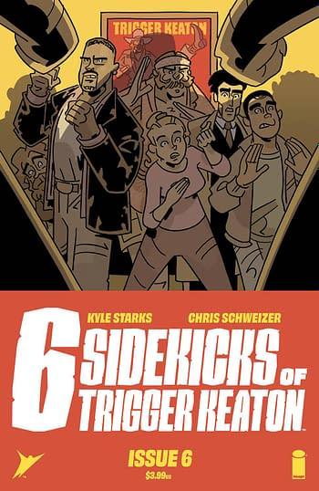 Cover image for SIX SIDEKICKS OF TRIGGER KEATON #6 CVR A SCHWEIZER (MR)