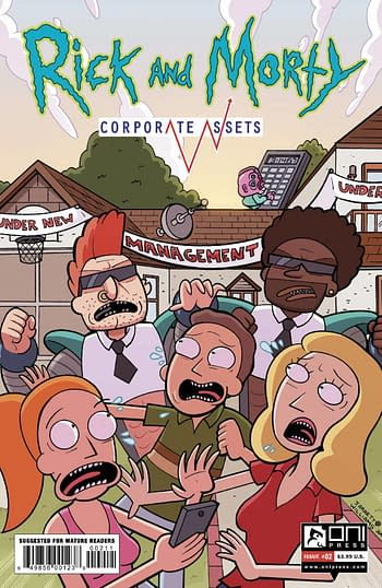 Cover image for RICK AND MORTY CORPORATE ASSESTS #2 CVR A WILLIAMS