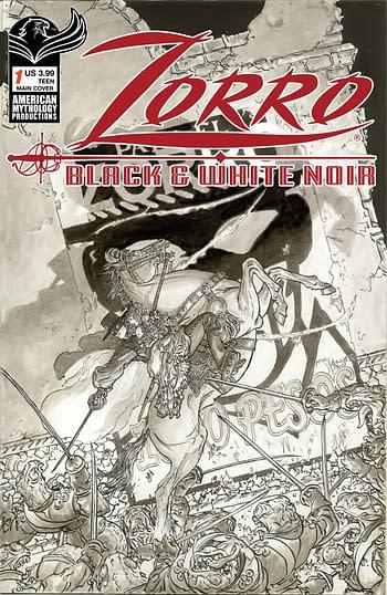 Cover image for ZORRO BLACK & WHITE NOIR #1 CVR A KALUTA