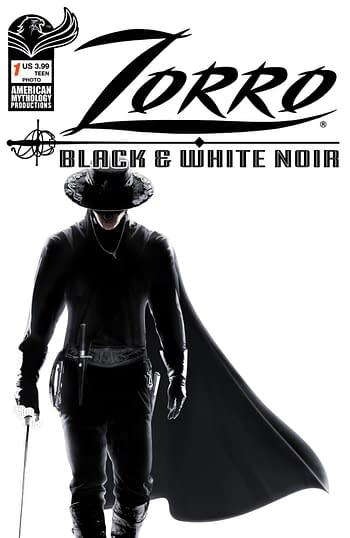 Cover image for ZORRO BLACK & WHITE NOIR #1 CVR C PHOTO