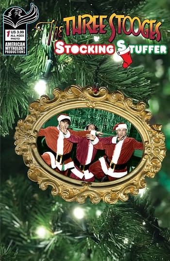 Cover image for THREE STOOGES STOCKING STUFFER #1 CVR C COLOR PHOTO
