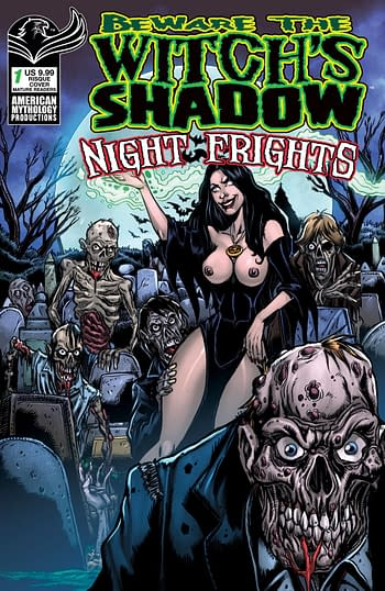 Cover image for BEWARE THE WITCHS SHADOW NIGHT FRIGHTS #1 CVR D RISQUE (MR)