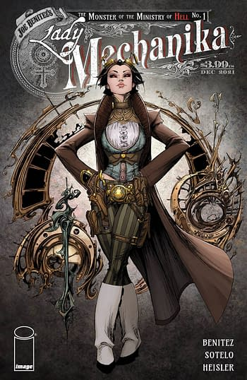 Cover image for LADY MECHANIKA MONSTER OF MINISTRY #1 (OF 4) CVR A BENITEZ &