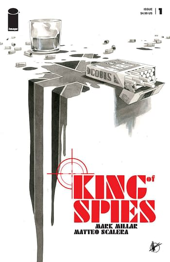 Cover image for KING OF SPIES #1 (OF 4) CVR B SCALERA B&W (MR)