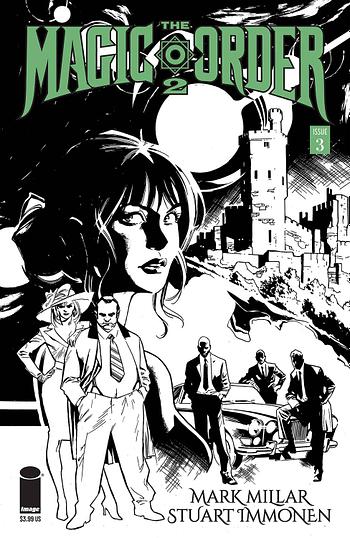 Cover image for MAGIC ORDER 2 #3 (OF 6) CVR B IMMONEN B&W (MR)