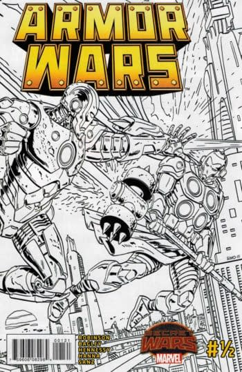 Armor Wars #1/2 Sketch Cover