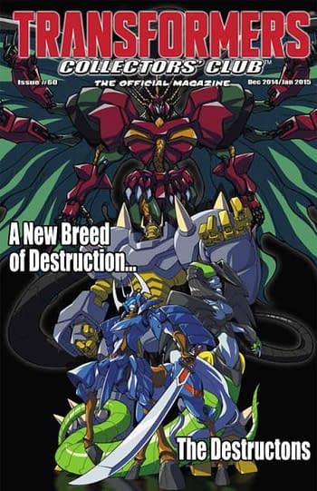 Hasbro Transformers Collectors' Club #60 Cover