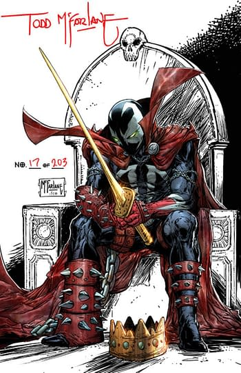 Todd McFarlane Signs And Numbers King Spawn #1 1:250 Variant Covers