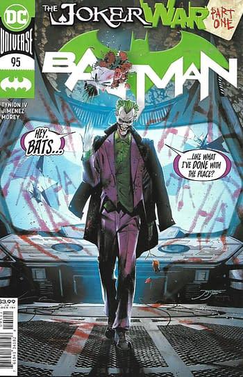 Batman #95 Covermpster Fire