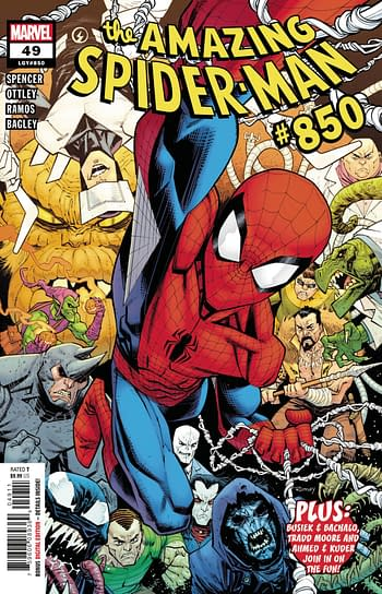 The cover to Amazing Spider-Man #850, the last issue featuring artist Ryan Ottley.