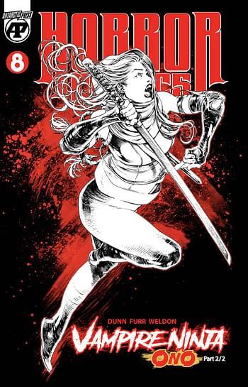 Cover image for HORROR COMICS #8 VAMPIRE NINJA ONO PART 2 OF 2