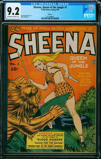 Sheena, Queen of the Jungle #1, Fiction House 1942.