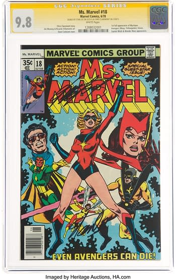 Ms. Marvel #18 Signature Series: Stan Lee and Chris Claremont