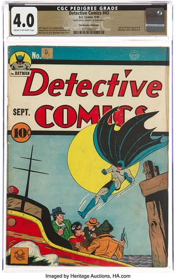 Detective Comics #43 The Promise Collection Pedigree (DC, 1940) CGC VG 4.0 Cream to off-white pages.