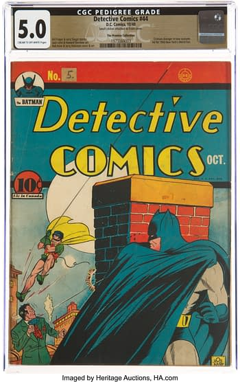 Detective Comics #44 The Promise Collection Pedigree (DC, 1940) CGC VG/FN 5.0 Cream to off-white pages.