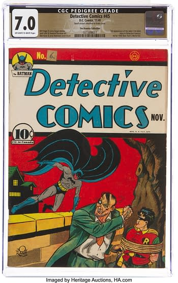 Detective Comics #45 The Promise Collection Pedigree (DC, 1940) CGC FN/VF 7.0 Off-white to white pages.