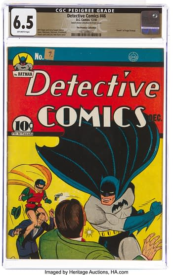 Detective Comics #46 The Promise Collection Pedigree (DC, 1940) CGC FN+ 6.5 Off-white pages.