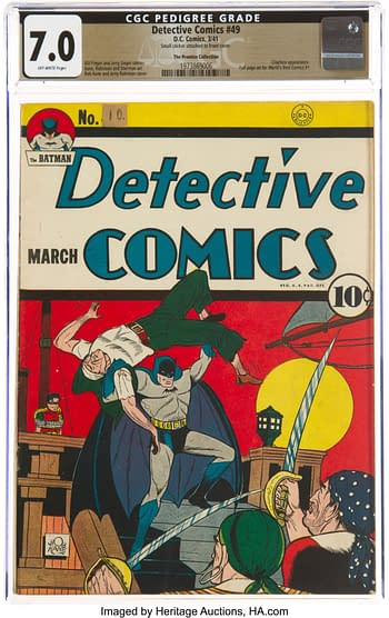 Detective Comics #49 The Promise Collection Pedigree (DC, 1941) CGC FN/VF 7.0 Off-white pages