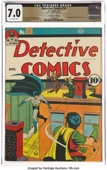 Detective Comics #50 The Promise Collection Pedigree (DC, 1941) CGC FN/VF 7.0 Off-white pages