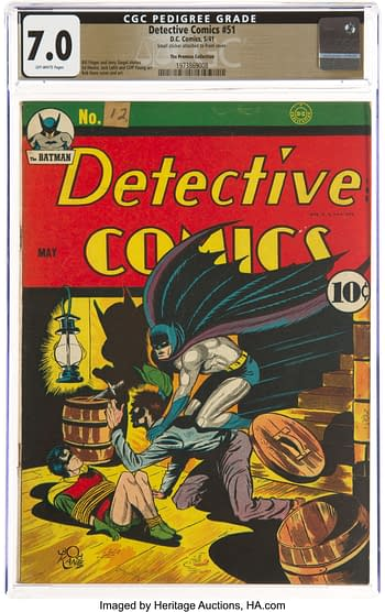 Detective Comics #51 The Promise Collection Pedigree (DC, 1941) CGC FN/VF 7.0 Off-white pages