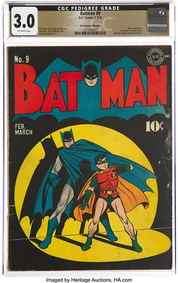 Batman #9 The Promise Collection Pedigree (DC, 1942) CGC GD/VG 3.0 Off-white pages