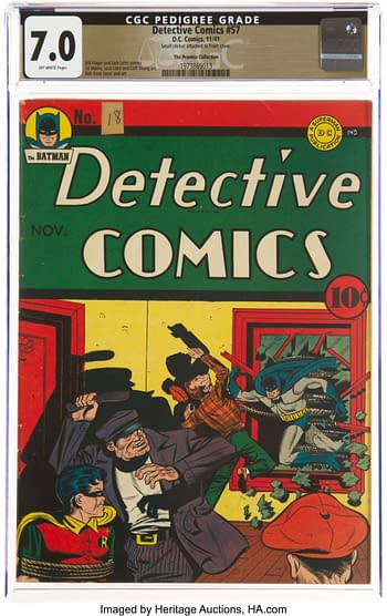 Detective Comics #57 The Promise Collection Pedigree (DC, 1941) CGC FN/VF 7.0 Off-white pages