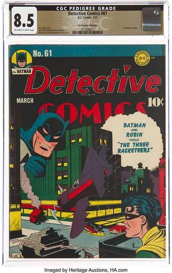 Detective Comics #61 The Promise Collection Pedigree (DC, 1942) CGC VF+ 8.5 Off-white to white pages