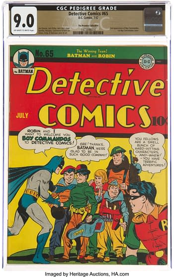 Detective Comics #65 The Promise Collection Pedigree (DC, 1942) CGC VF/NM 9.0 Off-white to white pages