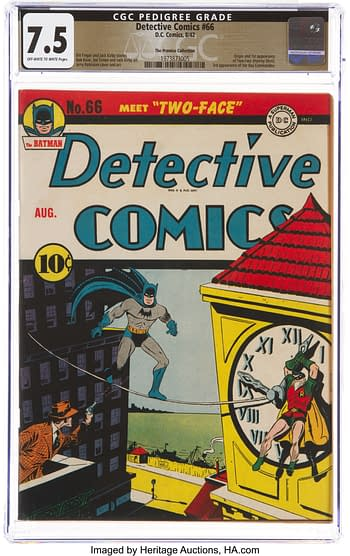 Detective Comics #66 The Promise Collection Pedigree (DC, 1942) CGC VF- 7.5 Off-white to white pages