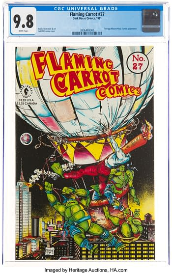 When Todd McFarlane drew the Flaming Carrot # 27 at auction