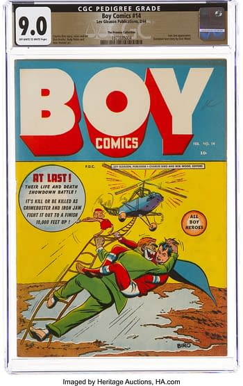 Boy Comics #14 The Promise Collection Pedigree (Lev Gleason, 1944) CGC VF/NM 9.0 Off-white to white pages