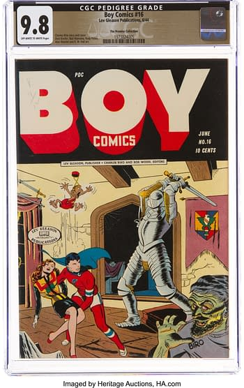 Boy Comics #16 The Promise Collection Pedigree (Lev Gleason, 1944) CGC NM/MT 9.8 Off-white to white pages