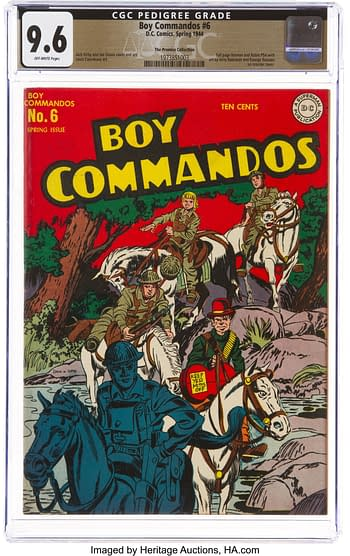 Boy Commandos #6 The Promise Collection Pedigree (DC, 1944) CGC NM+ 9.6 Off-white pages