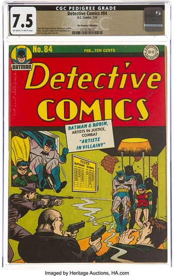 Detective Comics #84 The Promise Collection Pedigree (DC, 1944) CGC VF- 7.5 Off-white to white pages