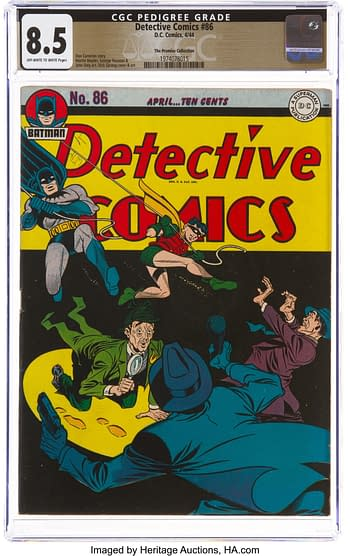 Detective Comics #86 The Promise Collection Pedigree (DC, 1944) CGC VF+ 8.5 Off-white to white pages