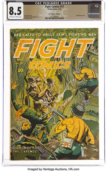 Fight Comics #31 The Promise Collection Pedigree (Fiction House, 1944) CGC VF+ 8.5 Off-white to white pages