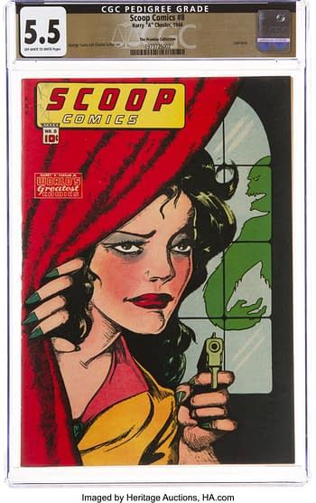 Scoop Comics #8 The Promise Collection Pedigree (Chesler, 1944) CGC FN- 5.5 Off-white to white pages