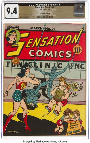 Sensation Comics #27 The Promise Collection Pedigree (DC, 1944) CGC NM 9.4 White pages