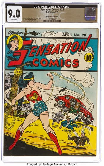 Sensation Comics #28 The Promise Collection Pedigree (DC, 1944) CGC VF/NM 9.0 White pages