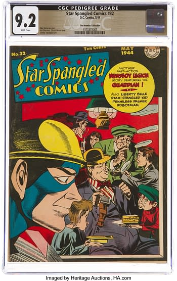 Star Spangled Comics #32 The Promise Collection Pedigree (DC, 1944) CGC NM- 9.2 White pages
