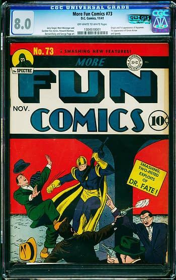 More Fun #73, first appearance of Green Arrow and Aquaman, DC Comics 1941.